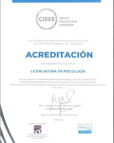 acreditación CIEES 2020