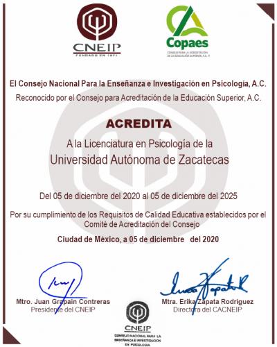 acredotación CNEIP 2020