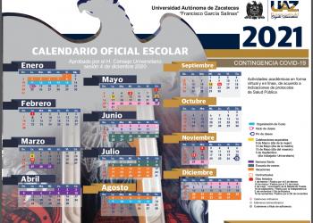 calendario UAZ 2021